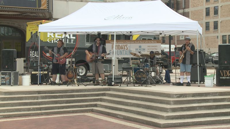 Fridays by the Fountain are back for the summer at the John R. Hunt memorial plaza.