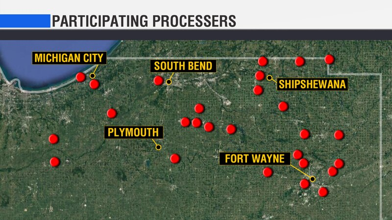 There are butchers partnering with Hoosiers Feeding the Hungry in LaPorte, Elkhart, St. Joseph,...