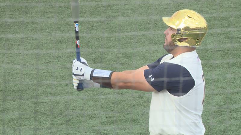Niko Kavadas gets ready to step in the batter's box against Central Michigan on June 6, 2021...