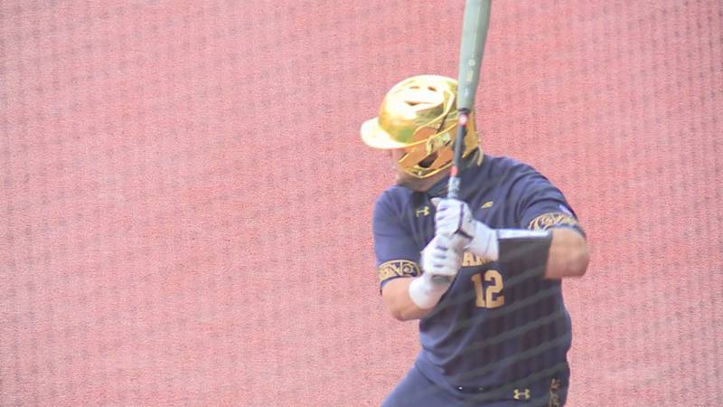 Niko Kavadas in the on deck circle before a game against Virginia.