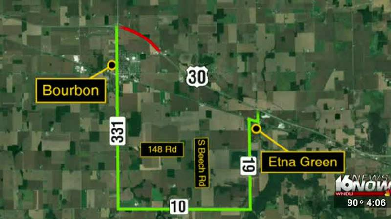 U.S. 30 closed in Marshall County