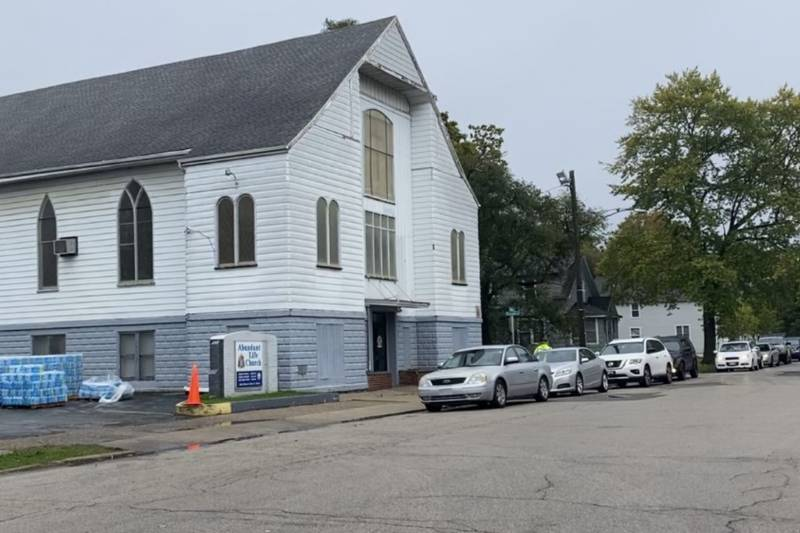 Abundant Life Church, who also serve as a water distribution site in Benton Harbor, saw no more...