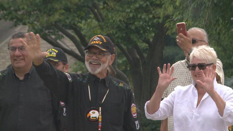 A drive-by parade in Elkhart Saturday showed support for a Combat Vietnam Veteran in need of a...