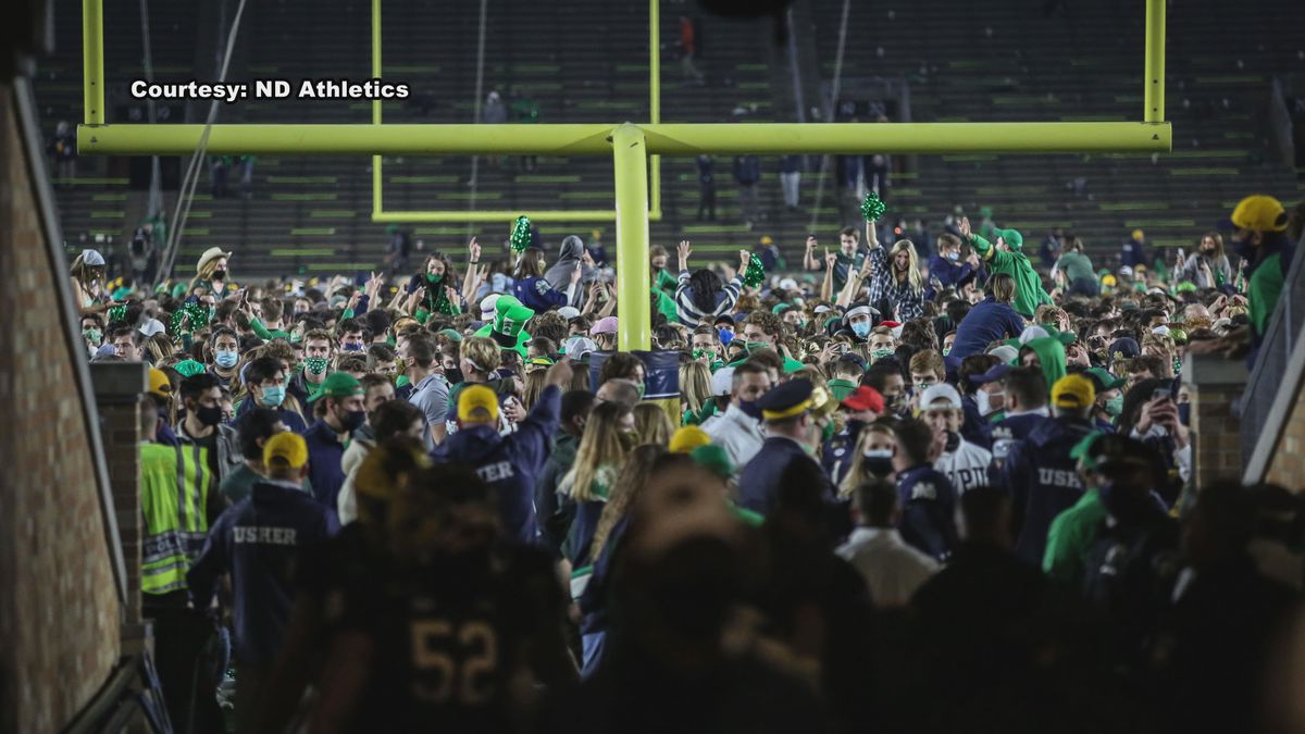 Kelly did say when he made his proclamation to his team that the fans would storm the field to...