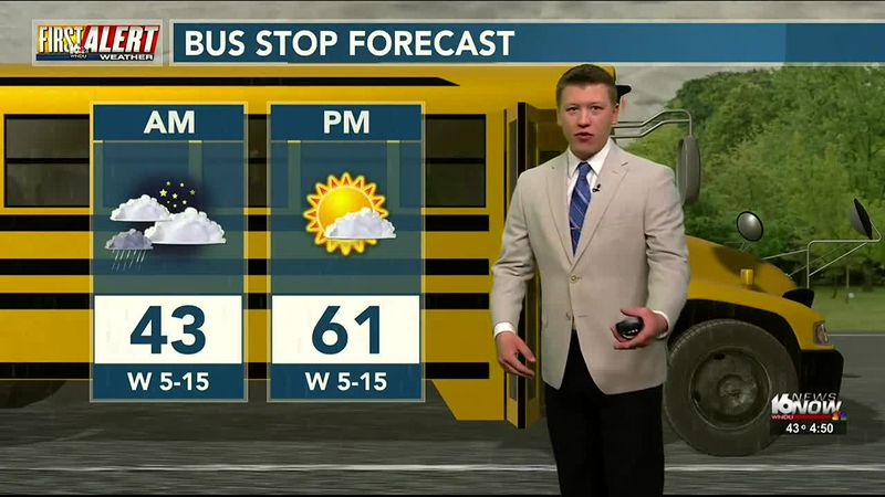 Showers Early, Drying Out Monday