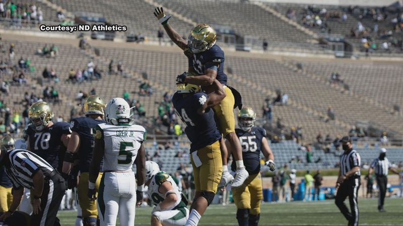 Notre Dame is having offensive and defensive lineman, who are in close quarters with one...