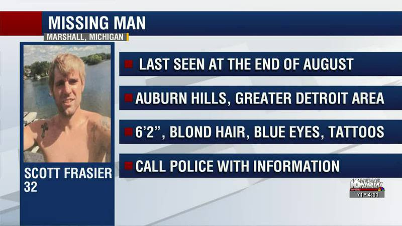 32-year-old Scott Frasier was last seen at the end of August 2021 and is possibly staying in...