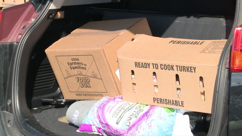 The distribution is part of the retailer's commitment to donate $1 million worth of turkeys...