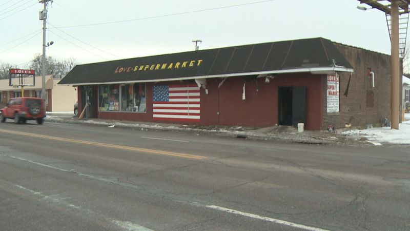 No one was inside the store at the time of the fire and there were no injuries.