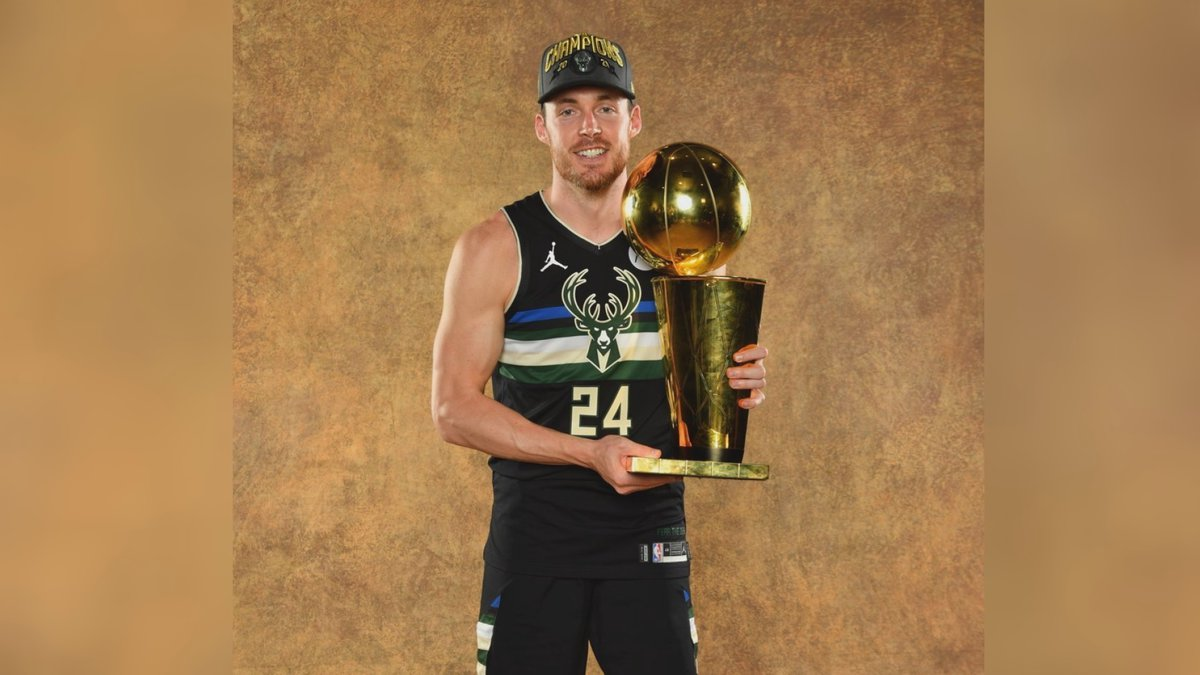 Former Irish captain Pat Connaughton poses with Larry O'Brien Trophy after helping the...