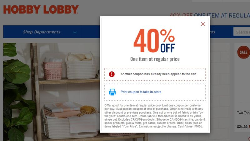 Hobby Lobby is doing away with its longtime promotion that allows a customer to take 40 percent...