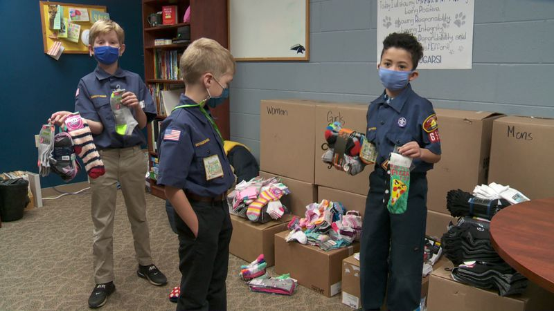 A group of third graders came up with the idea to help the area's homeless.