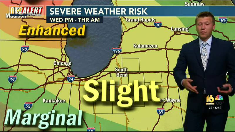 First Alert Forecast: One More Day of Heat and Humidity, Storms Overnight