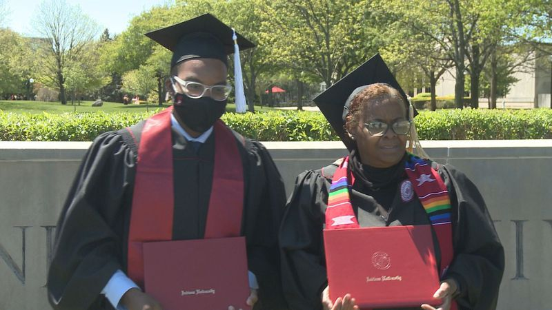 Due to Covid precautions, many families had to stay at home to watch the online commencement...