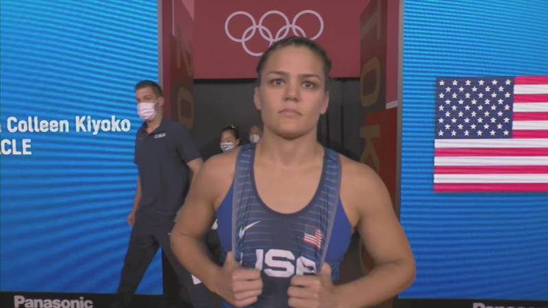 Kayla Miracle at the 2020 Olympic Games in Tokyo.