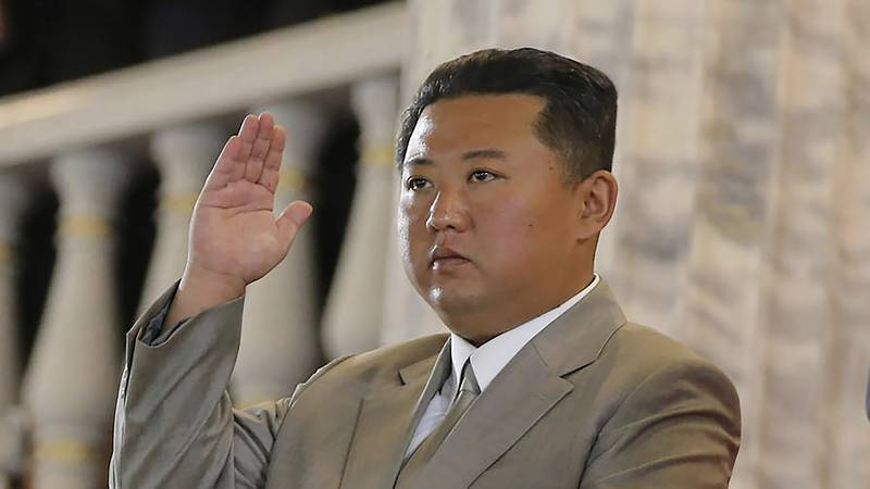 In this Sept. 9, 2021, file photo provided by the North Korean government, North Korean leader...