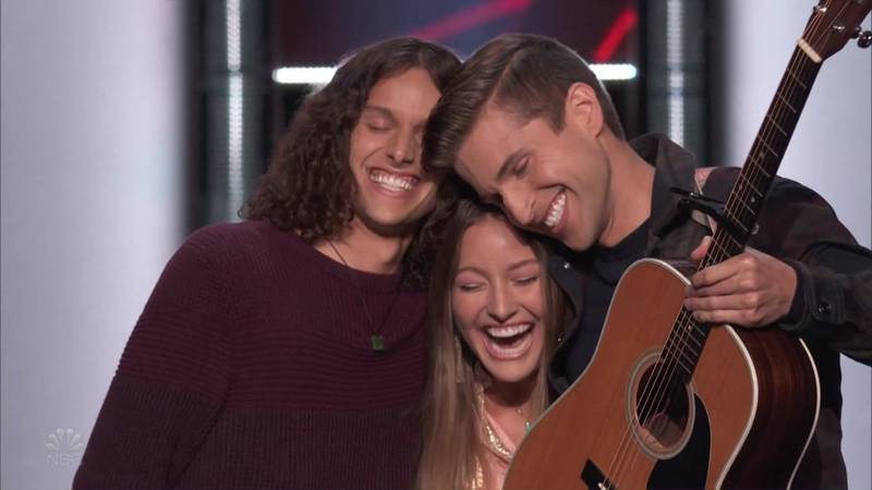 """Joshua, Bekah and Caleb Liechty with the band """"Girl Named Tom"""" won the battle last night and..."""