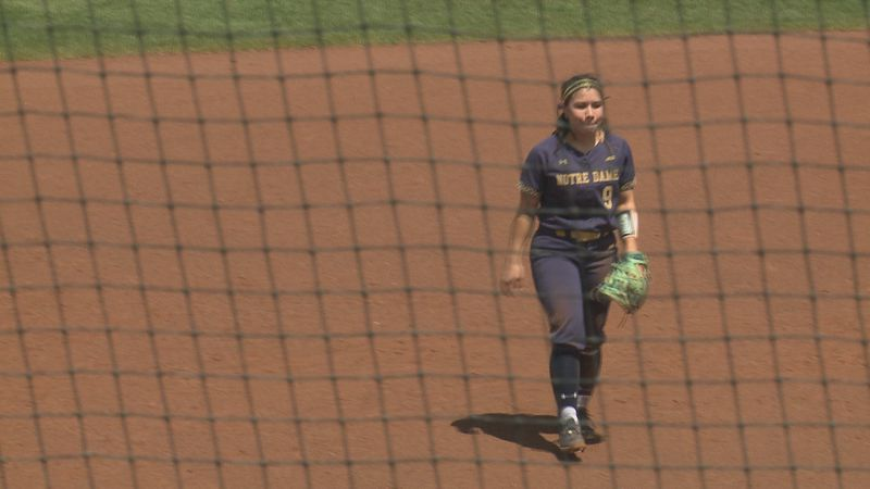 Chelsea Purcell in the infield at Melissa Cook Stadium.