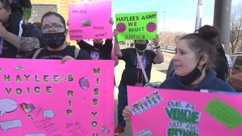 People hold rally for 2-year-old found dead