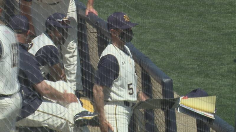Irish manager Link Jarrett in the dugout on Sunday May 2, 2021 against North Carolina.
