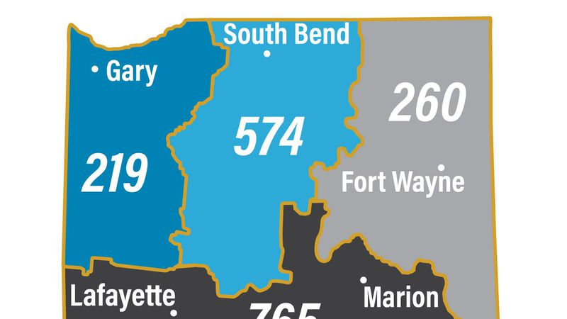 Everyone in northern Indiana's 574 and 219 telephone area codes will be required to use 10...