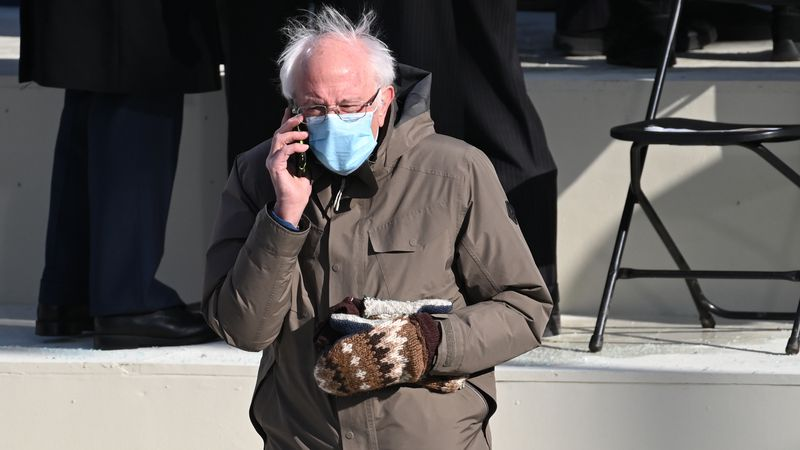 Vermont Senator Bernie Sanders arrives for the 59th Presidential Inauguration at the U.S....
