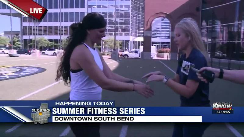 The fun started on the Gridiron Saturday morning for the weekly, free Summer Fitness Series.