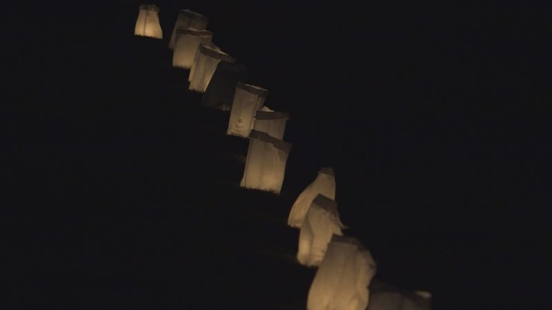 Local neighborhood luminaria connects and impacts the community