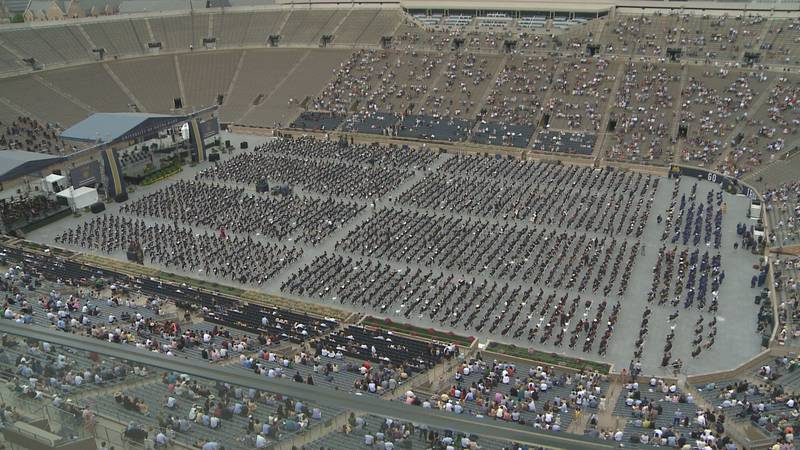 Notre Dame celebrates its 176th commencement ceremony Sunday.