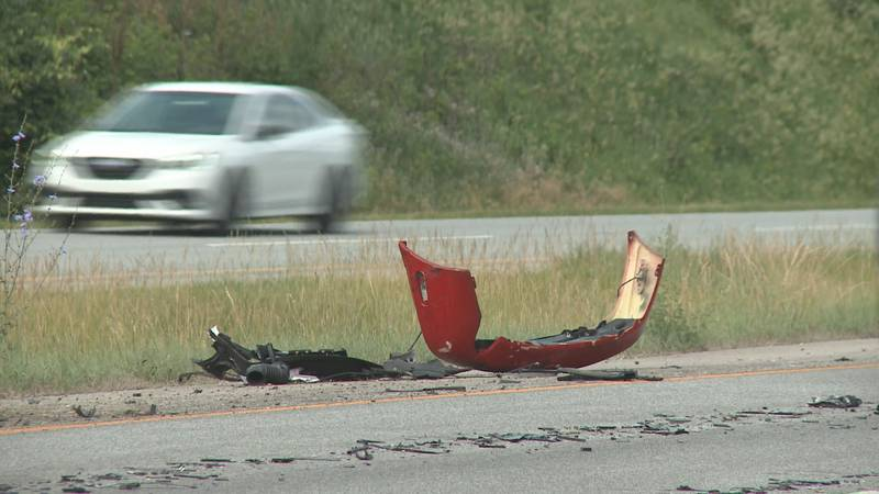 One person is dead after a collision between two cars and a semi-truck on the toll road in...