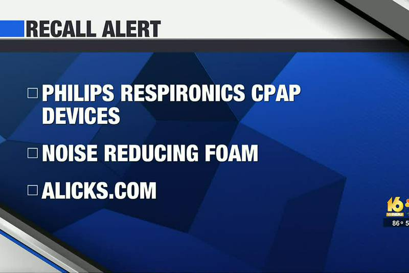 The recall was issued due to a noise reducing foam found in certain devices that may break down...