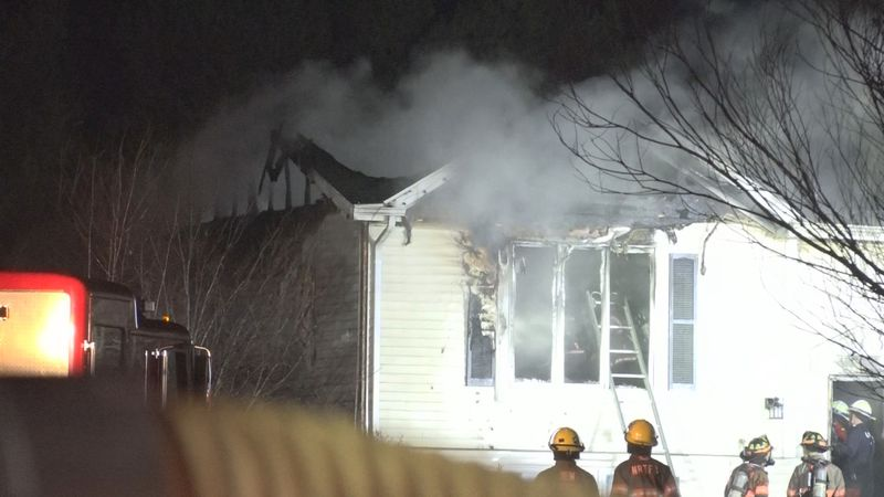 Multiple fire departments respond to a house fire in Berrien County