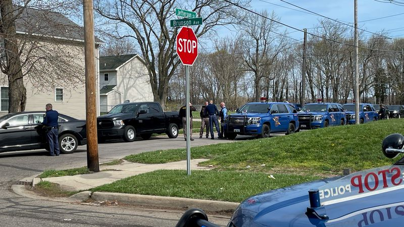 There's a heavy police presence in a Benton Harbor neighborhood after a Wednesday morning...