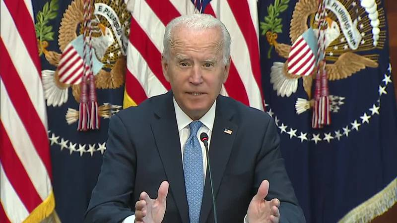 President Joe Biden discussed the vaccine mandate during a meeting with CEOs on Wednesday.