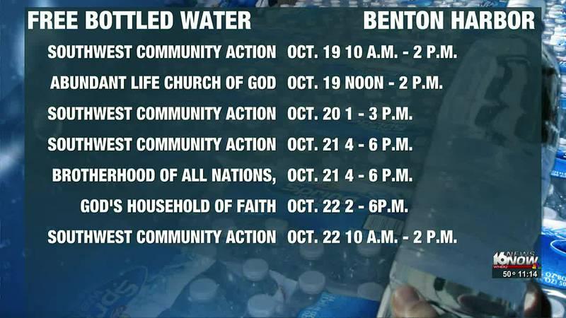 Free bottled water distribution dates added in Benton Harbor