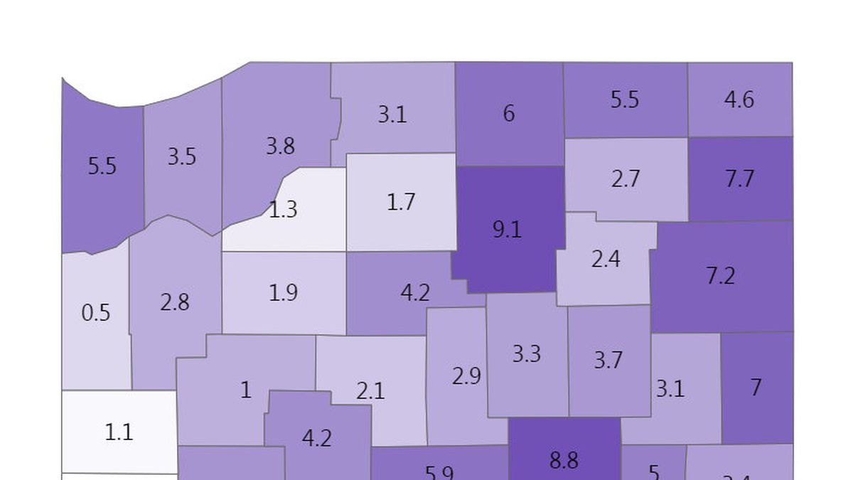 Indiana's 7-day positivity rate is 4.5%.