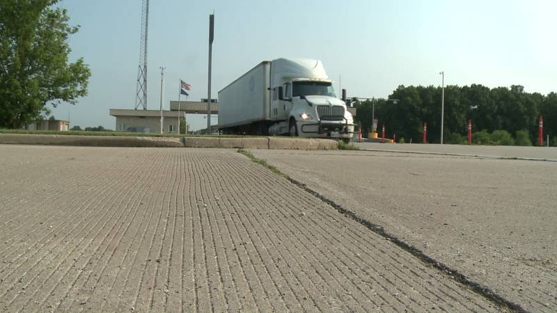 ISP is riding along with truckers to keep a lookout for cars driving aggressively near...