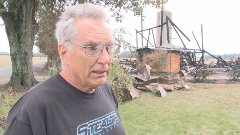 Two barns within a five mile radius caught fire just hours apart in Elkhart County over the...