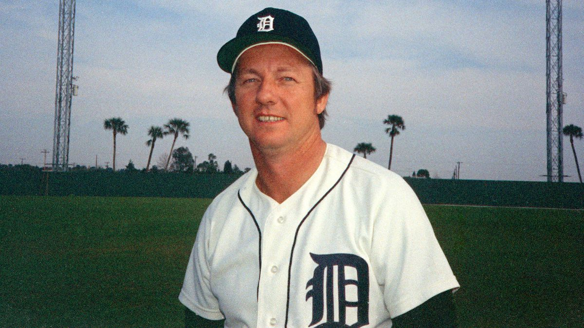 Al Kaline, outfielder for the Detroit Tigers, poses during spring training in Tampa, Fla., 1974. (AP Photo)