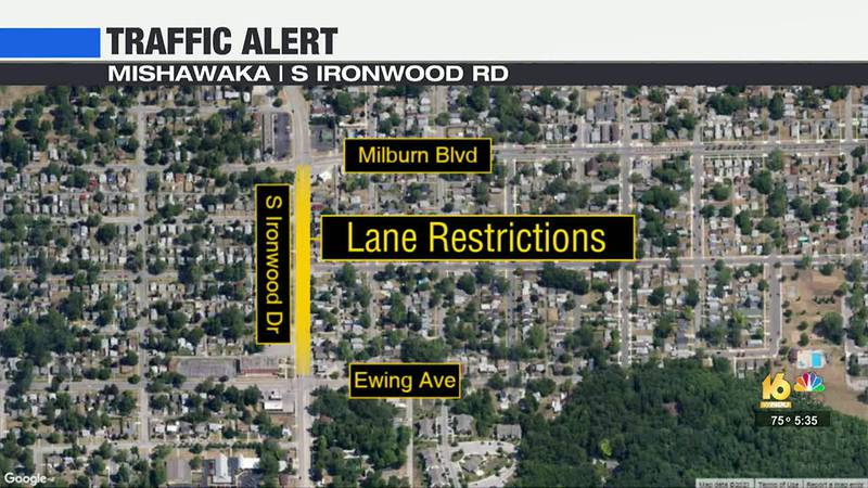 Traffic will be one-lane only in each direction during construction. The restrictions will last...