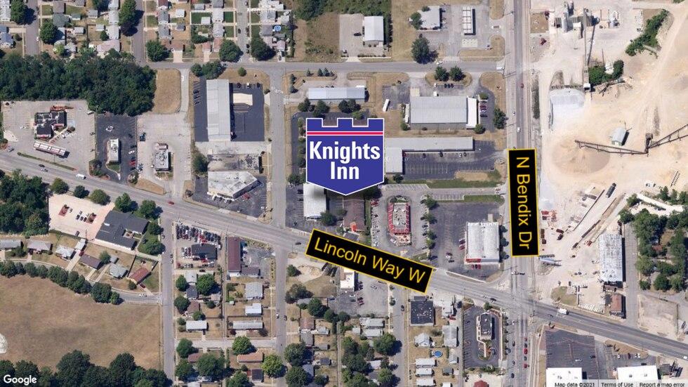 Location of Knights Inn