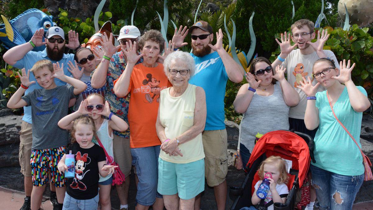 Joyce Newton and her family