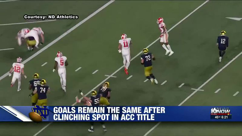 Notre Dame's goals remain the same after clinching spot in ACC title